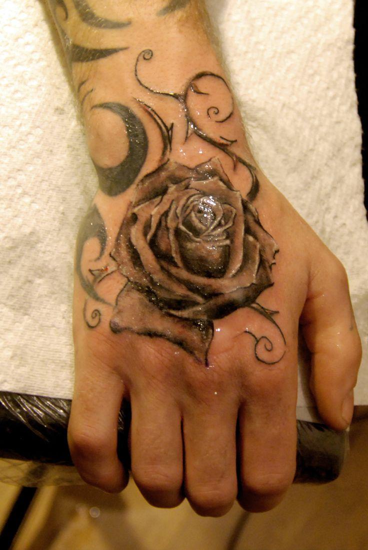 27 best rose tattoos for men n han images on pinterest for Female hand tattoos images