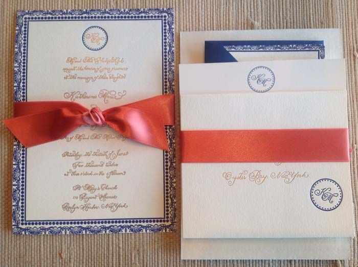 Blue And Coral Wedding Invitations: 18 Best Images About Navy Blue Wedding On Pinterest