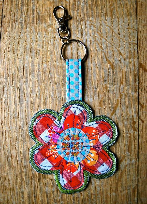 Porte clé fleur