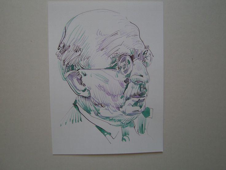 Arnold Zweig Federzeichnung o9.o6.2o13