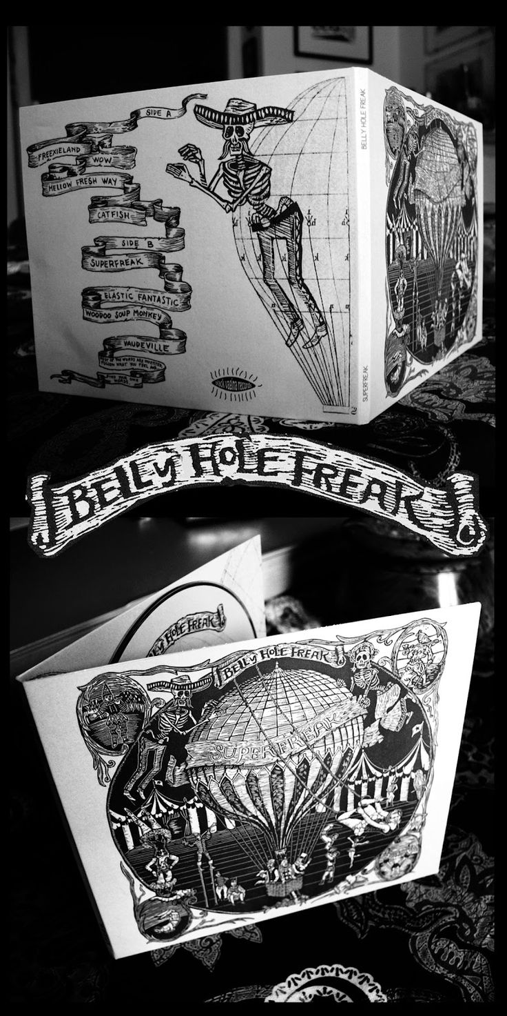 "Belly Hole Freak "" Superfreak"" CD Cover Album artwork by Susanna Doccioli"