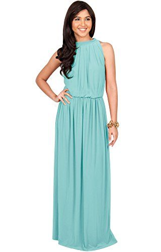 8193373b5bd A simple yet stunning sleeveless maxi dress design from Koh Koh that  features. This versatile gown is perfect for every occasion so dress it up  or down to ...