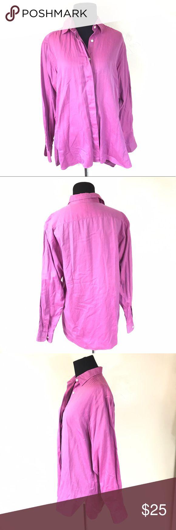 PINK THOMAS PINK LONDON L/S CHEVRON  TOP SIZE 10 Good condition pink Thomas pink London long sleeve button down shirt size 10 women's pink thomas pink Tops Button Down Shirts