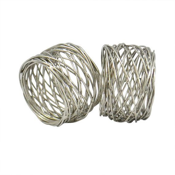 24 Pcs Party Pack Metal Wire Mesh Napkin rings by UltimaDecor, $36.00