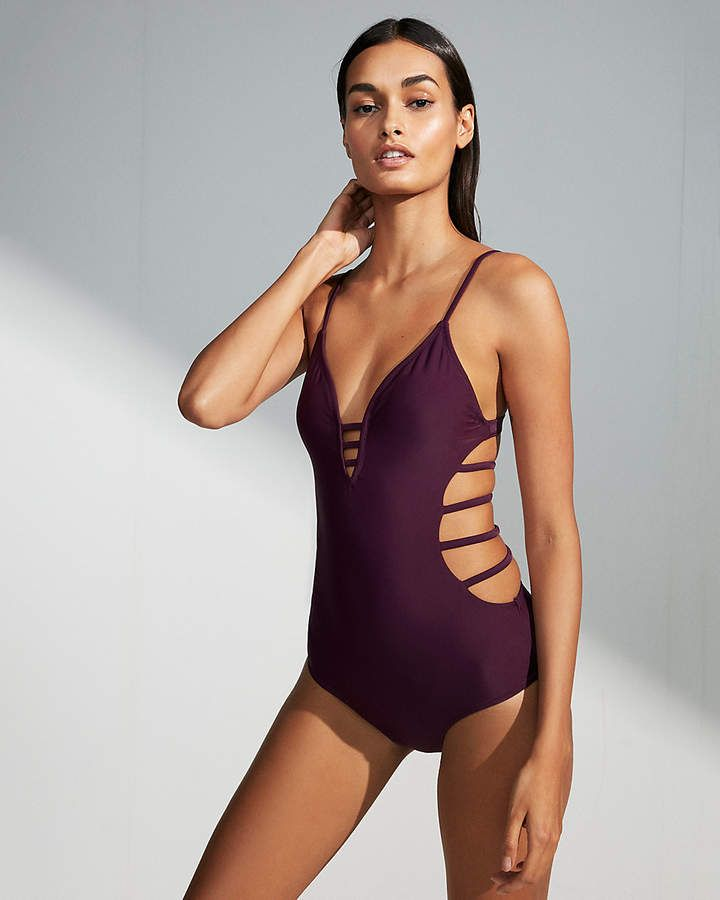 6e2ae0217e Express Strappy Open Back One-Piece Swimsuit   One Piece Swimsuit ...