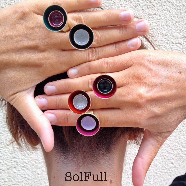 """2-in-1"" boul enamel rings"