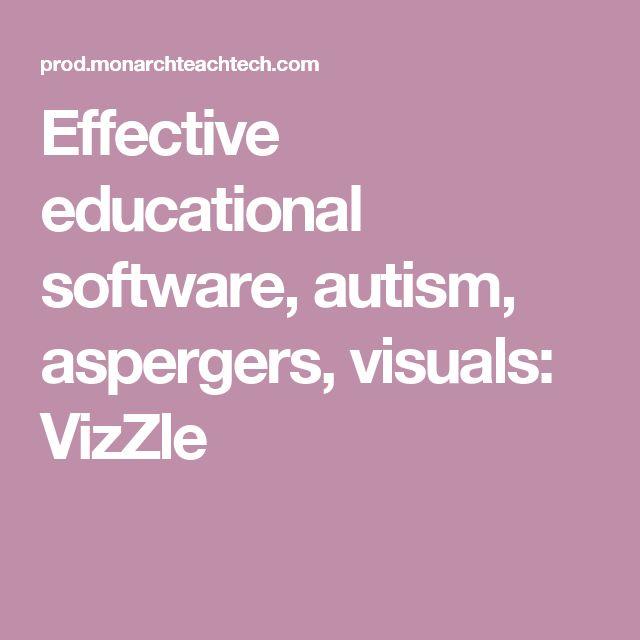 Effective educational software, autism, aspergers, visuals: VizZle