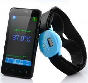 Priced at $26.99 - Android Devices Supported Digital Wireless Bluetooth Thermometer - Built in LCD Display - http://www.amazon.com/gp/product/B00CH1Y1XM