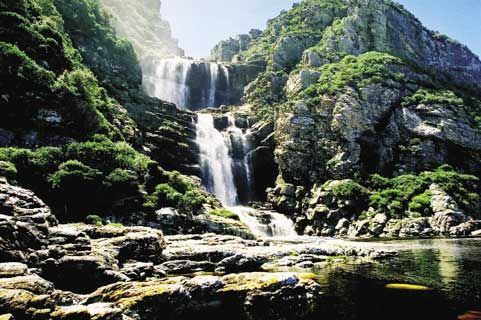 Tsitsikamma - waterfall at head of Otter Trail South Africa