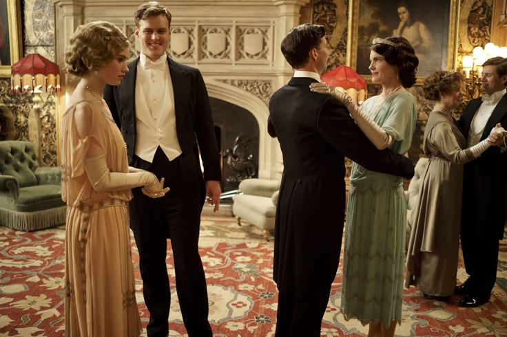 Downton Abbey - Countess Cora Crawley and Terence Sampson with Rose MacClare and John Bullock