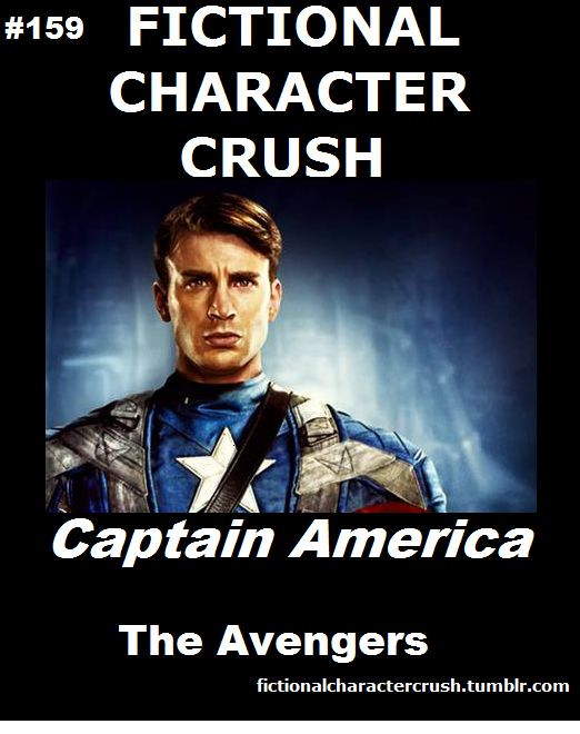 Fictional Character Crush: Captain America- how the HELL did he beat Robert Downey JR?!