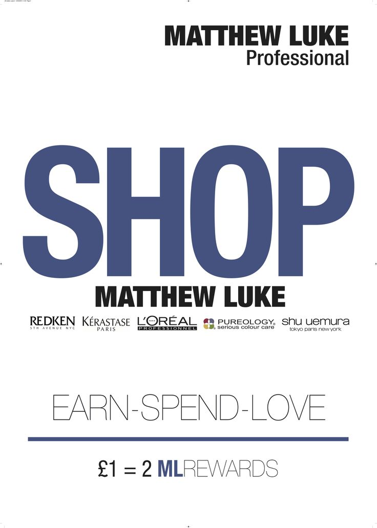 Our Online Shop is now LIVE www.matthewlukehair.co.uk