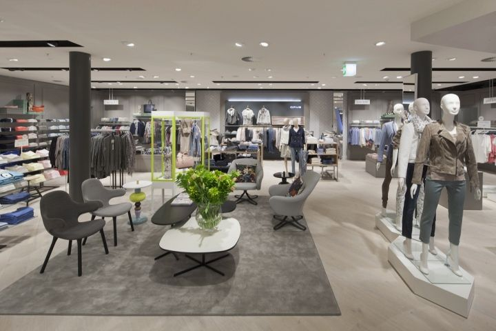 pkz women flagship store by interstore interforce zurich. Black Bedroom Furniture Sets. Home Design Ideas