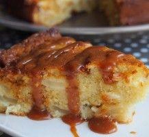 Gâteau pommes caramel beurre salé