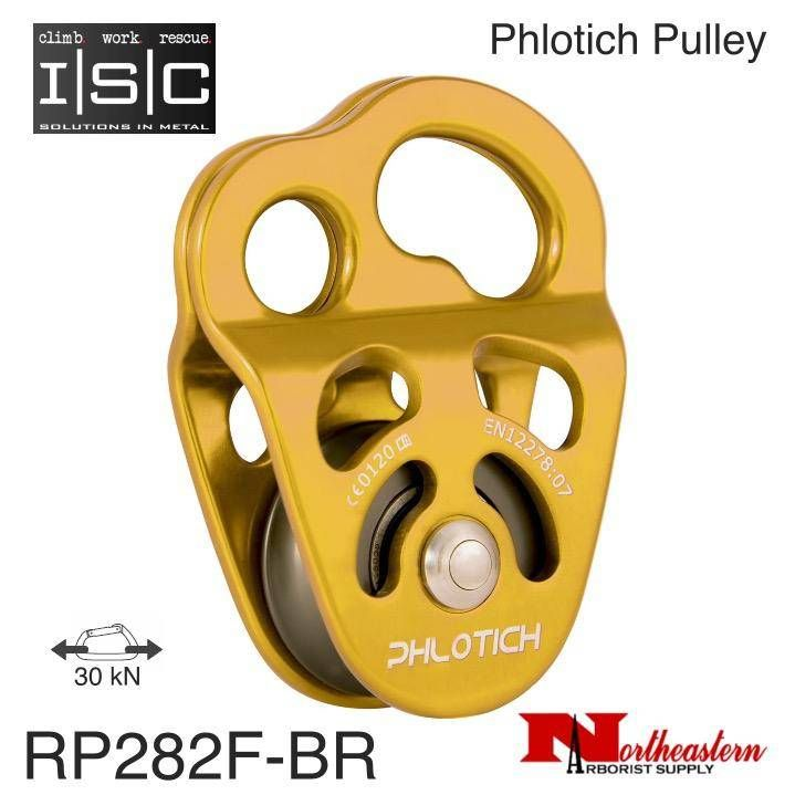 Isc Pulley Phlotich Gold With Bearings 30kn 1 2 Rope Max In 2019 Pulley Gold Bear