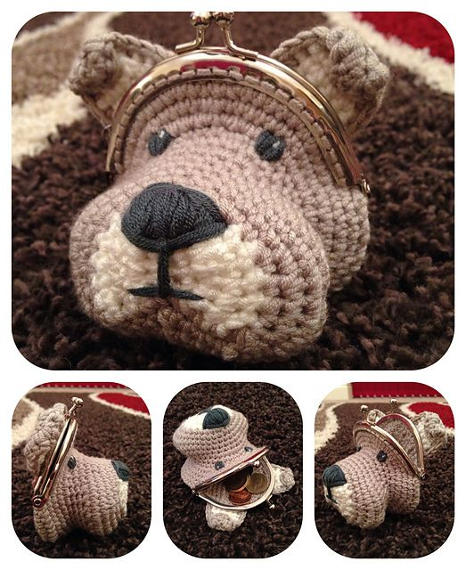 Ravelry: Dog Coin Purse pattern by Laura Sutcliffe