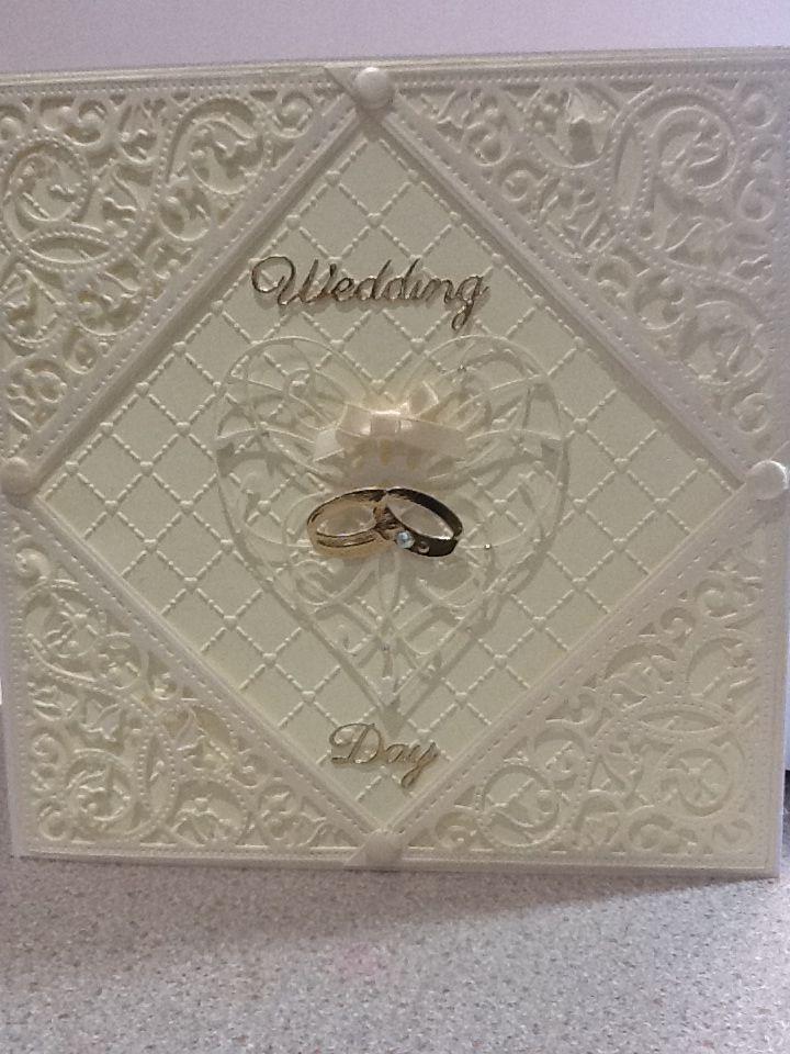 Cream wedding using spellbinders and memory box