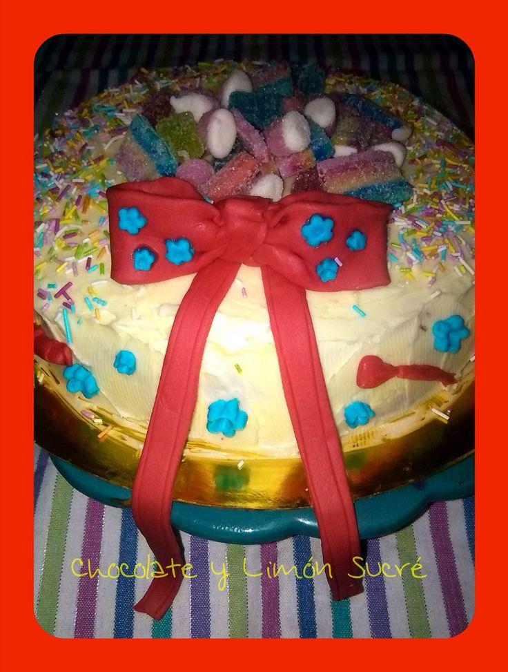 Tarta de cumpleaños infantil.