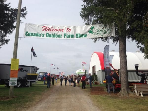Beautiful day to kick off the Outdoor Farm Show