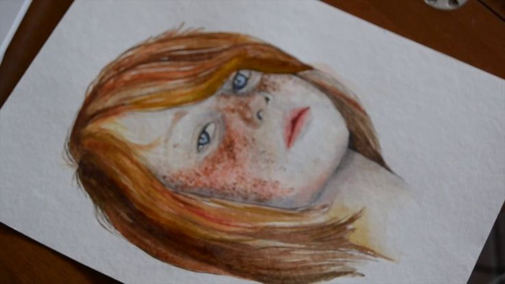 """Speed Watercolor painting illustrazione disegno acquerello """"IL VOLTO"""""""