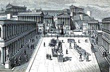 The Roman Forum at the time of Julius Caesar.