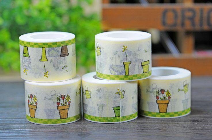 2017 New 1x Raising Flowers Patterned Cartoon Japanese Floral Washi Tape Nastro Adesivo Cinta Adhesiva DIY Decorative Tape 10M
