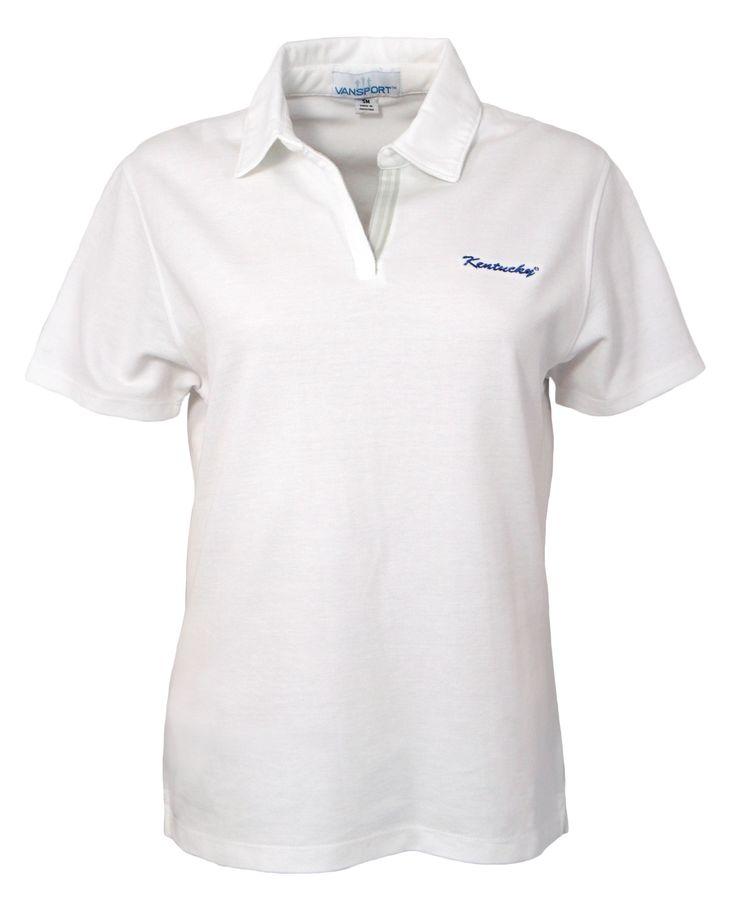 Ladies University of Kentucky V-Neck Pique Polo Shirt