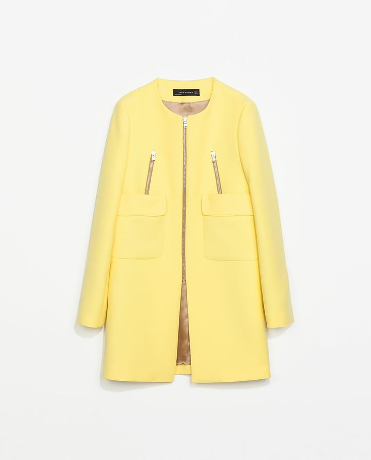 This coat must become mine!! COAT WITH POCKETS from Zara