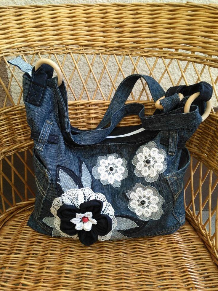 Női farmer táska