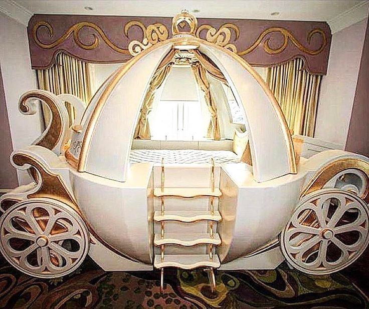 How Stunning Is This Cinderella Carriage Bed?! Credit To @afk_furniture.