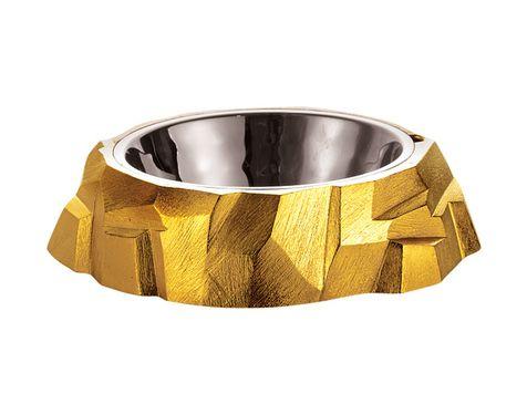 Миска Rock Dog Bowl, металл, Michael Aram.