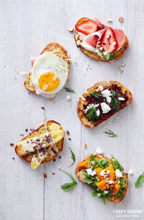 Toast Toppers featured in our new 'I Quit Sugar Healthy Breakfast Cookbook'.