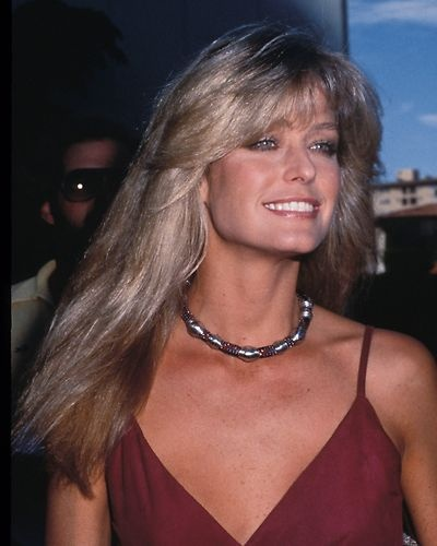 Farrah Fawcett at a Hollywood Event Candid Photo