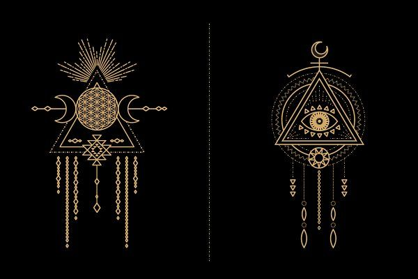 Mandala Set - Tribal Shaman - Illustrations