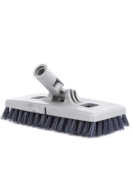 Heavy-Duty Power Swivel Scrub: Floor scrub brush with synthetic fibers and a swivel connector.