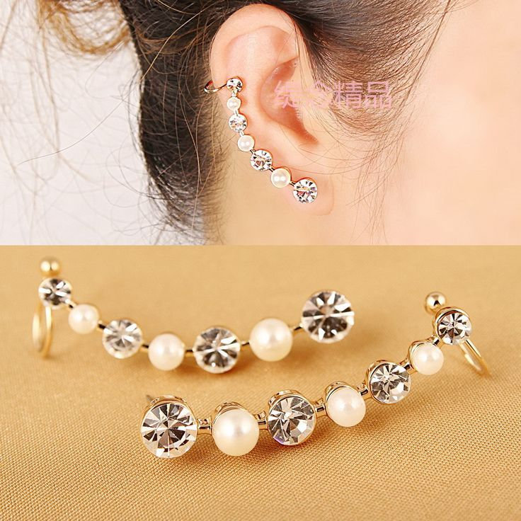 Checkout this new stunning item   Hot New European and American Fashion Gorgeous Rhinestone and Simulated-Pearl Curviplanars Personalized Ear Cuff Clip Earrings 1 - US $1.45 http://freealiexpress.com/products/hot-new-european-and-american-fashion-gorgeous-rhinestone-and-simulated-pearl-curviplanars-personalized-ear-cuff-clip-earrings-1/