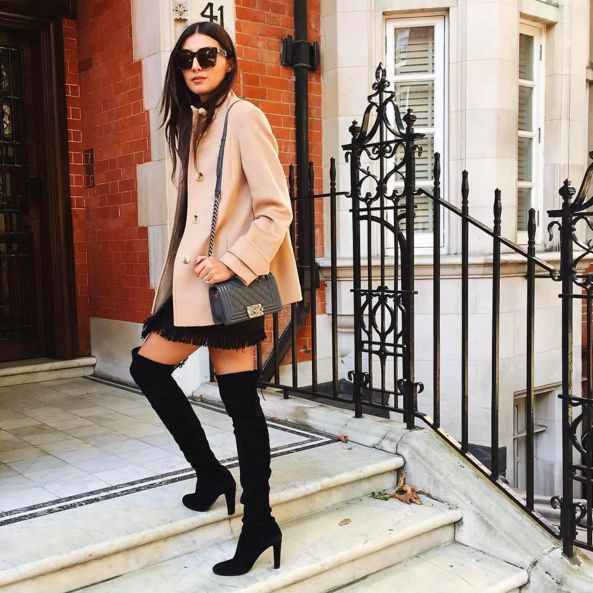 The 41 Most Instagrammed It Items Of 2015 #refinery29  http://www.refinery29.com/most-popular-instagram-items-2015#slide-37  Stuart Weitzman Highland BootDon't even bother 'gramming a black boot if it isn't Stuart Weitzman's must-have over-the-knee version — they're an easy way to look instantly more chic....