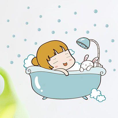 adesivi murali bagnoschiuma cartoon adesivi murali bambino bambino