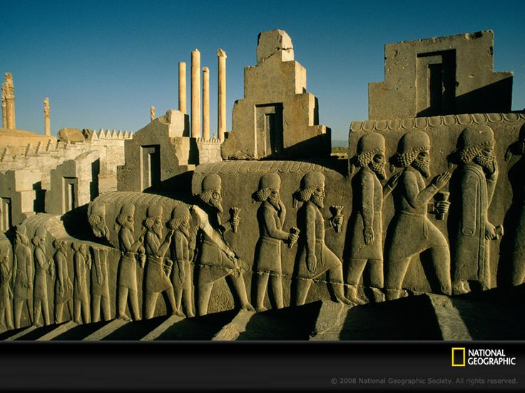 Persepolis, Iran. My boyfriend's parents are from Iran, and I'd love to go with him but we can't. If he goes there, he would be conscripted into the military for compulsory service, even though he is a US citizen.