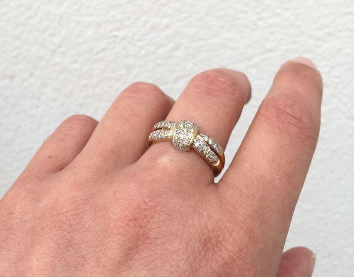 Afbeeldingsresultaat voor gouden ring met strik