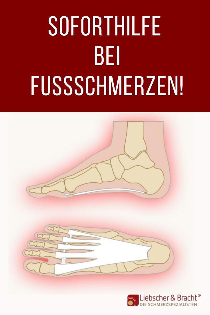 Soforthilfe gegen Fußschmerzen!