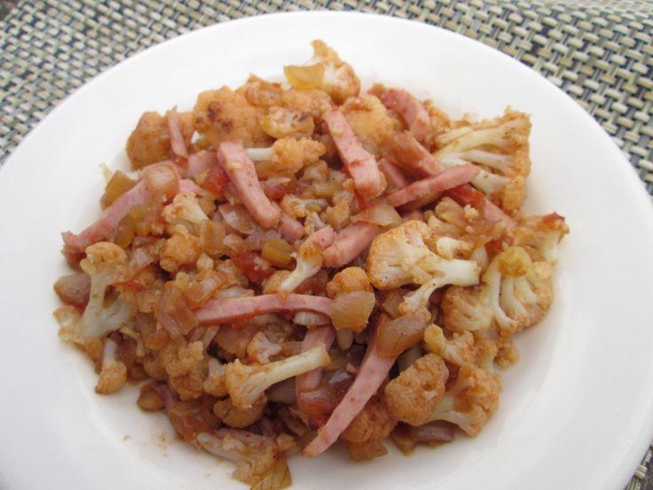 Bloemkool gestoofd zorgt voor minder oprispingen en is gewoon erg lekker! http://beaskookclub.wordpress.com/recepten/hoofdgerechten/bloemkool-gestoofd-met-tomaten-en-ham-4-personen/
