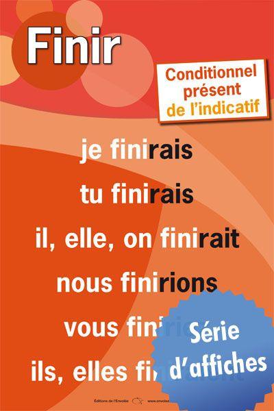 Affiches des verbes - Conditionnel présent de l'indicatif