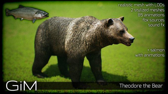 Animals - Theodore the Bear by GiM on @creativemarket