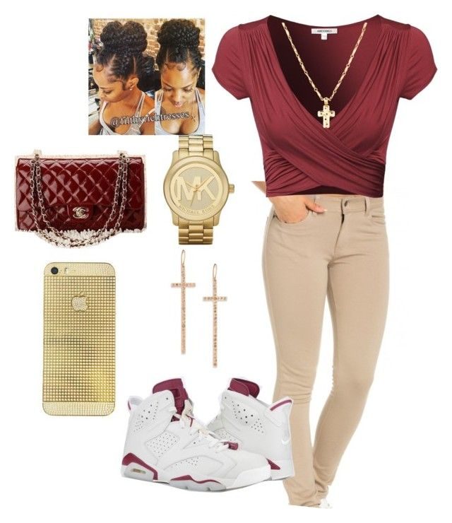 """Untitled #9"" by queenquanna1108 on Polyvore featuring Michael Kors, LJ Cross and Chanel"