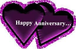 Purple Wedding Anniversary Cards | Happy Wedding Anniversary to the couple who are just made for each ...