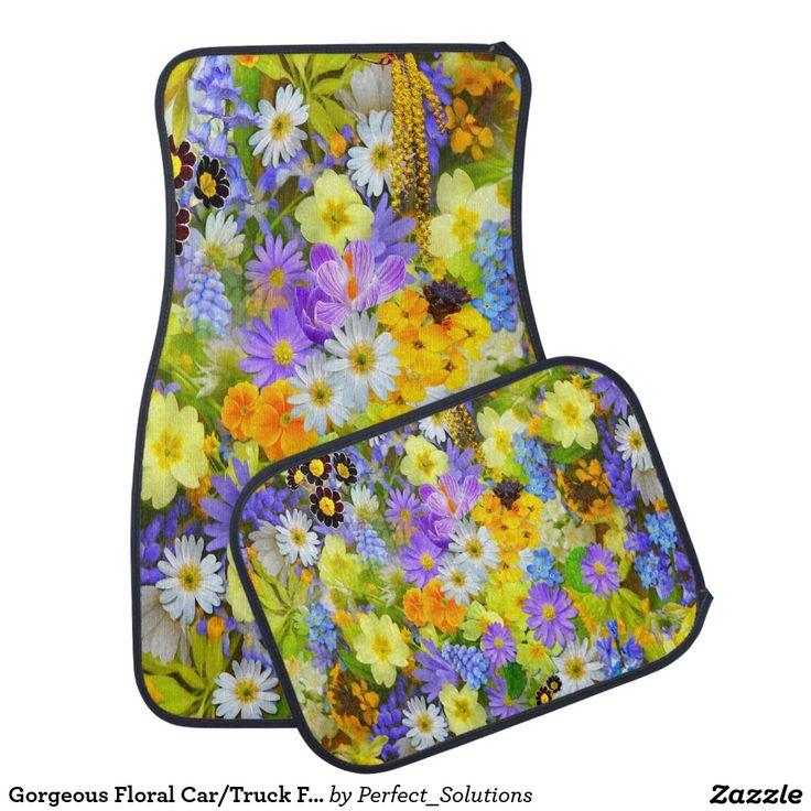 Floral Car/Truck Floor Mats Floor Mat
