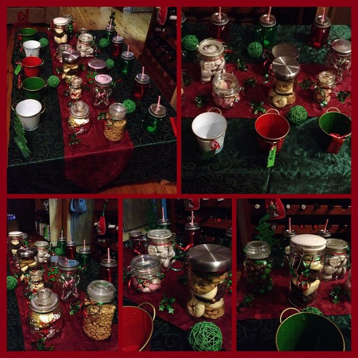 Xmas candy buffet I made in 2014 for the kids as a surprise