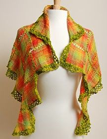 Schacht Spindle Blog: Citrus Squared Shawl: A Zoom Loom Project