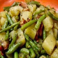 Crockpot Ham, Green Beans and Potatoes @keyingredient #crockpot